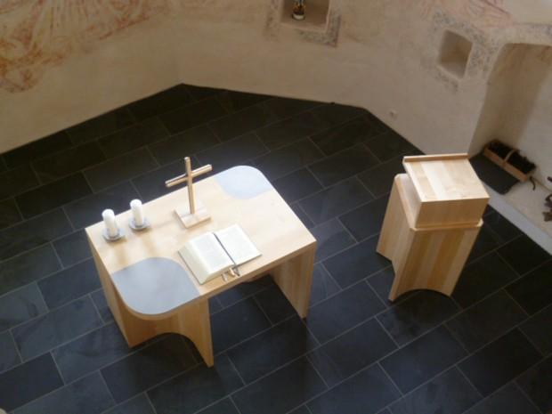 Kirche Datterode Altar+Ambo
