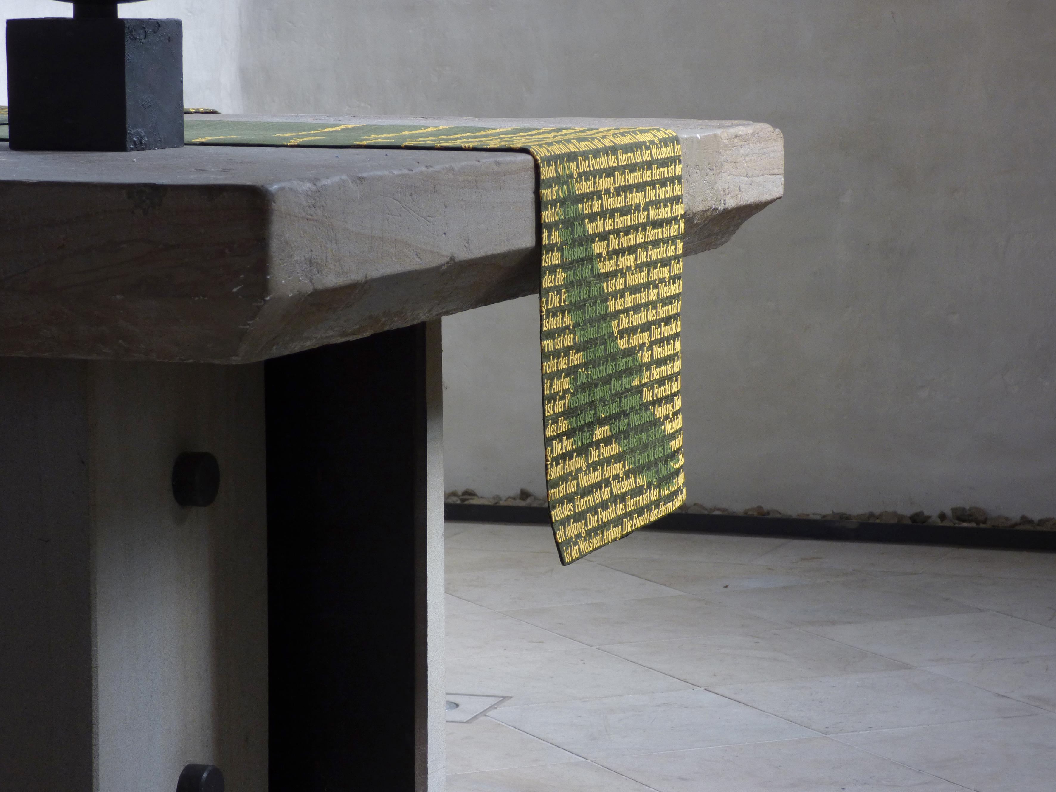 Antependium-grün-Detail